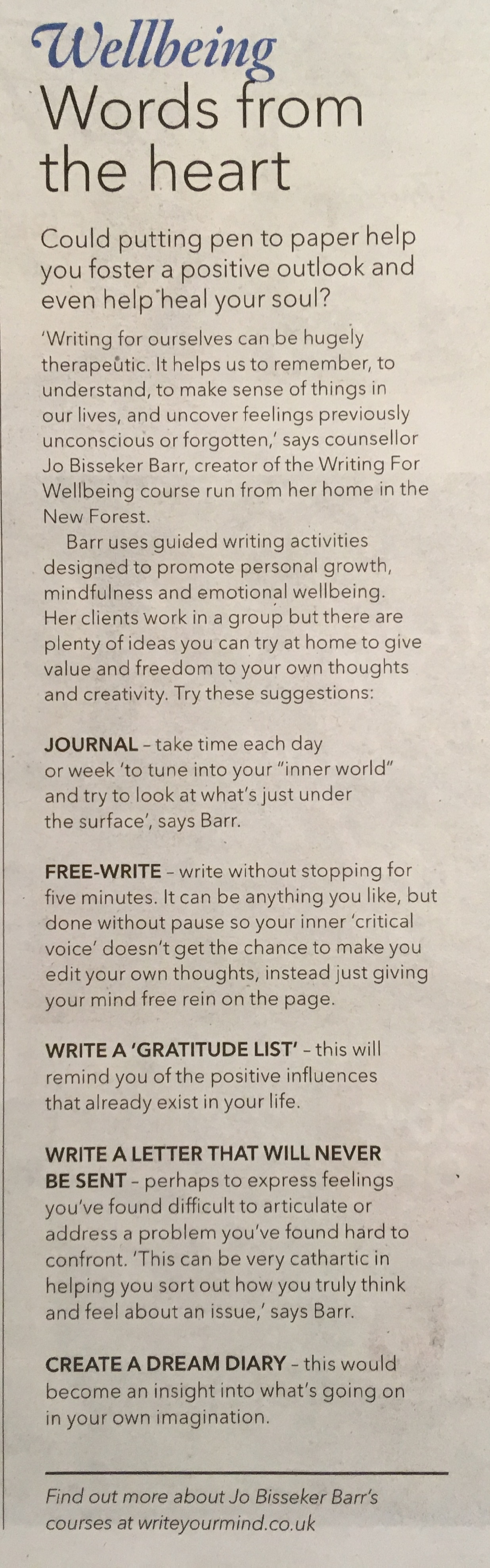 Waitrose Weekend Article