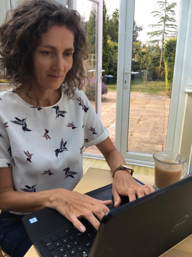 susan at laptop
